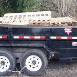 Dump Trailer filled